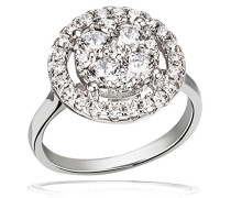 Damenring Ringe zum Jahrestag Glamour & Glow 925 Sterlingsilber 29 Zirkonia