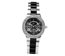 Damen-Armbanduhr Analog Quarz Premium Keramik Diamanten - STM15S3
