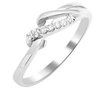 Weboptik  Damen-Ring 9 Karat (375) Weißgold Diamant 0,08 ct-MKW9007R8 Arabeske
