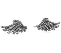 Damen-Ohrstecker Schimmernde Phoenixfeder 925 Silber Zirkonia transparent - 290581CZ
