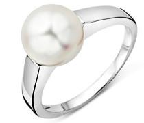 Damen-Ring 9 Karat 375 WeißgoldSüßwasser Zuchtperle 8.5mm große 52(16.6) USP041RWM