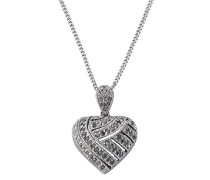 Diamonds by Ellen K. Damen-Anhägner mit Kette 925 Sterlingsilber Herz 57 Diamanten 0,59645. Piqué III / Top Crystal Gr. 42 cm 500244032-1-42