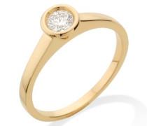 MC001YCM 18 Karat (750) Gelbgold Solitär Ringe mit IGI Zertifikat für Brillant 0,30 Ct - Größe 52