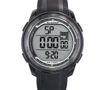 –680295–Zeigt Herren–Quartz Digital–Zifferblatt schwarz Armband Kunststoff schwarz
