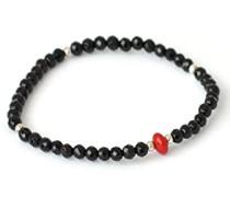 Herren Bracelet 925 Sterling-Silber Rundschliff Onyx