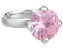 Damen-Ring 925 Sterling Silber Zirkonia pink