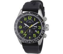 Herren-Armbanduhr XL Quarz Analog Kautschuk 6497-5030Q-s18