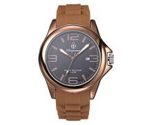 Armbanduhr für Damen mit Analog Anzeige, Quarz-Uhr und Silikonarmband - Wasserdichte Damenuhr mit zeitlosem, schickem Design - klassische, elegante Uhr für Frauen - BM166-095 Fun Time