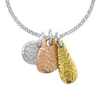 Nomad Silber und vergoldet geschlagen Trio Of Anhänger an Belcher Kette 46cm