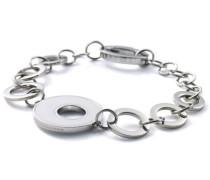 Damen-Armband Edelstahl Achat weiß 22 cm 41552