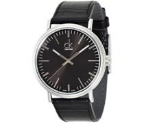 Calvin Klein Herren-Armbanduhr XL ck surround Analog Quarz Leder K3W211C1
