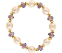 Damen-Armband Glas Perle Weiß Synthetische Perle Champagner 17.78 cm - 61206