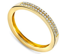 Damen-Ring Memoire 9 Karat (375) Gelbgold mit 0.11ct Brillanten