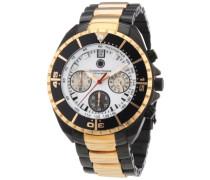 Herren-Armbanduhr XL Seawolf Chronograph Quarz Edelstahl beschichtet CD-SEAW-QZ-RGIP-RGIP-WH