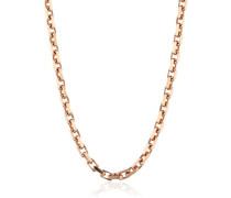 Damen-Ankerkette 4fach diamantiert rosé plated Stärke 2,53mm 925 Silber teilvergoldet 60 cm - ERNA-60-253R
