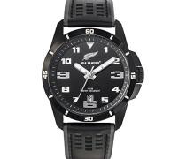 –680271–Armbanduhr–Quarz Analog–Zifferblatt schwarz Armband Leder schwarz