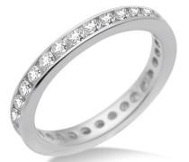 Damen-Ring Memoire 925 Sterling-Silber Zirkonia