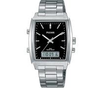Herren-Armbanduhr Analog - Digital Quarz Edelstahl PBK031X1