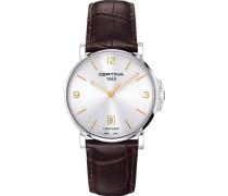 Certina Herren-Armbanduhr XL Analog Quarz Leder C017.410.16.037.01