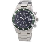 Herren-Armbanduhr XL Diver Chronograph Automatik Edelstahl 17571.6134