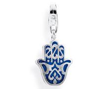 Damen- Charm Fatima- Hand 925 Silber Brandlack HB 427