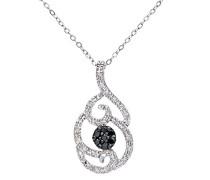 Damen-Halskette 375 Weißgold Diamant 9 Karat 460 mm
