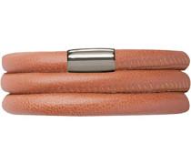 Damen-Armband Coral 2-reihig Edelstahl Leder 36.0 cm - 12110-36