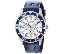 Nautica Herren-Armbanduhr Analog Quarz Silikon N12627G