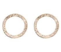 Kreolen Ohrringe Ohrstecker Gold gehämmert