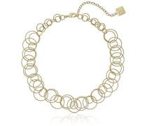 offene Link Kragen Gold Halskette von 40cm