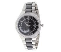 Damen-Armbanduhr Analog Quarz Premium Keramik Diamanten - ST13H15