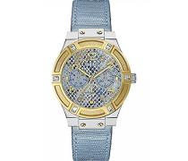 Damen-Armbanduhr Analog Quarz Leder W0289L2