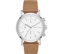 DKNY Damen-Armbanduhr Digital Quarz Leder NY2336