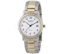 Regent Herren-Armbanduhr XL Analog Edelstahl beschichtet 11160209