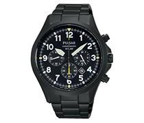 Pulsar Herren-Armbanduhr XL Solar Chronograph Quarz Edelstahl beschichtet PX5003X1