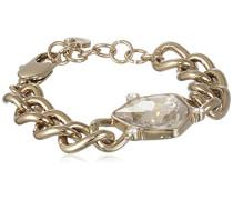 Damen-Armband Messing, golden, Kristall transparent 18 cm - 336698