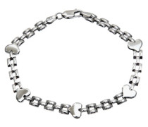 Damen-Armband Sterlingsilber 925, GliederHalskette Herzen SBT1410