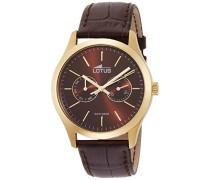 Herren-Armbanduhr XL Analog Quarz Leder 15957/3