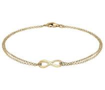 Damen Schmuck Echtschmuck Armband Gliederarmband Infinity Liebe Basic Sterling Silber 925 Vergoldet Länge 18 cm