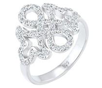 Premium Ring Infinity Ornament 925 Sterling Silber Swarovski Kristalle 0612610216