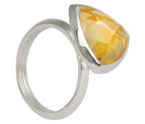 D for Diamond Damen-Ring Sterling-Silber 925 Citrin 52 (16.6) 2.39 mm KRW001C SZ6