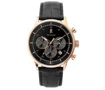 Herren-Armbanduhr Chronograph Quarz Leder 225D433
