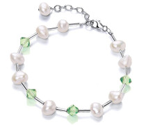 V & Co Süßwasserperle und Kristall-Armband Mint 18.3- 21,5 cm