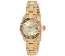 Invicta Damen-Armbanduhr XS Analog Quarz Edelstahl beschichtet 12527