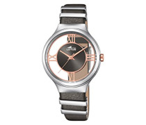 Lotus Damen-Armbanduhr Analog Quarz Leder 18337/1