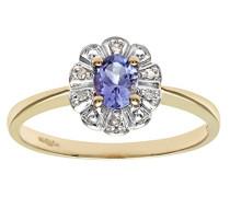 Damen-Ring 9 Karat (375) Gelbgold Diamant