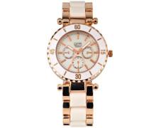 Damen-Armbanduhr Analog weiß 2938J-WT