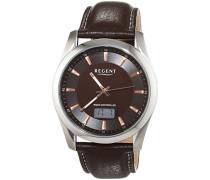 Herren-Armbanduhr XL Analog - Digital Quarz Leder 11030102