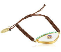 vergoldet weiß 925Silber Armband Makramee Evil Eye von 14–29cm