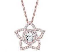 Halskette Blume Chakra Swarovski Kristalle 925 Silber rosé 0112391316